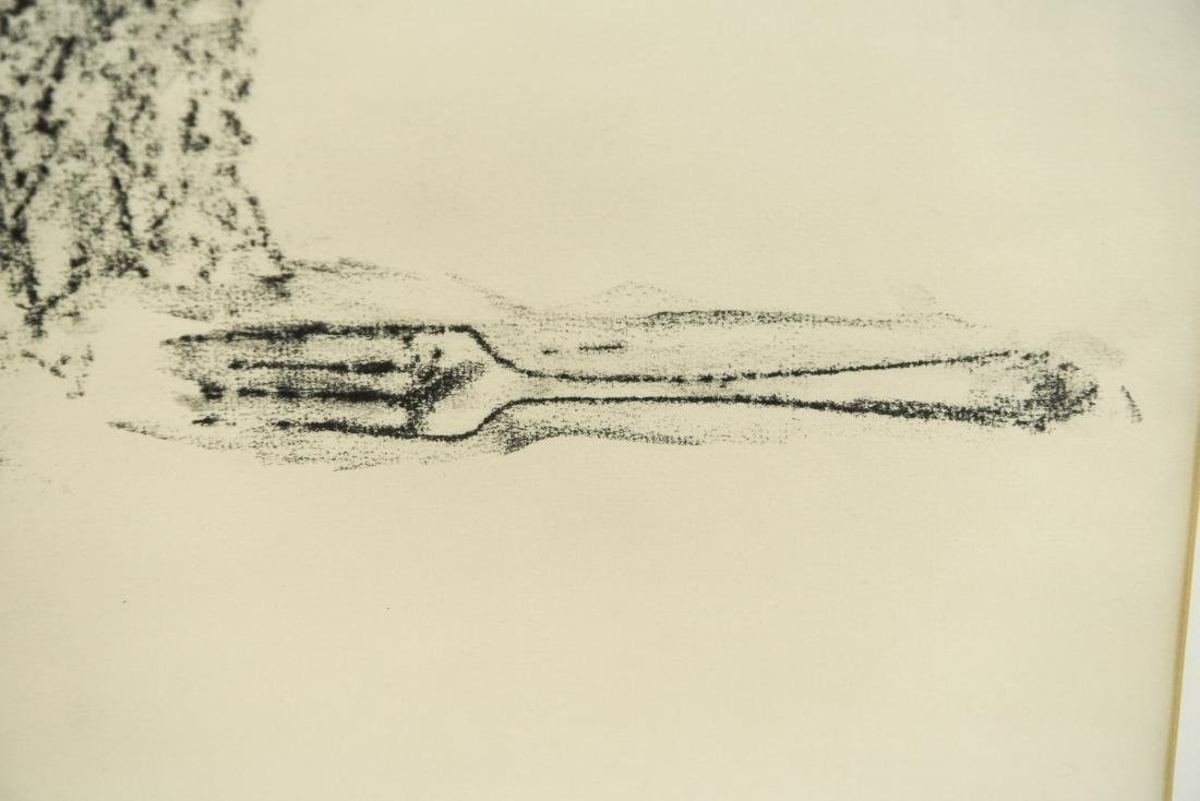 DOMINICK DIMEO (B. 1927) CHARCOAL DRAWING ON PAPER - 4