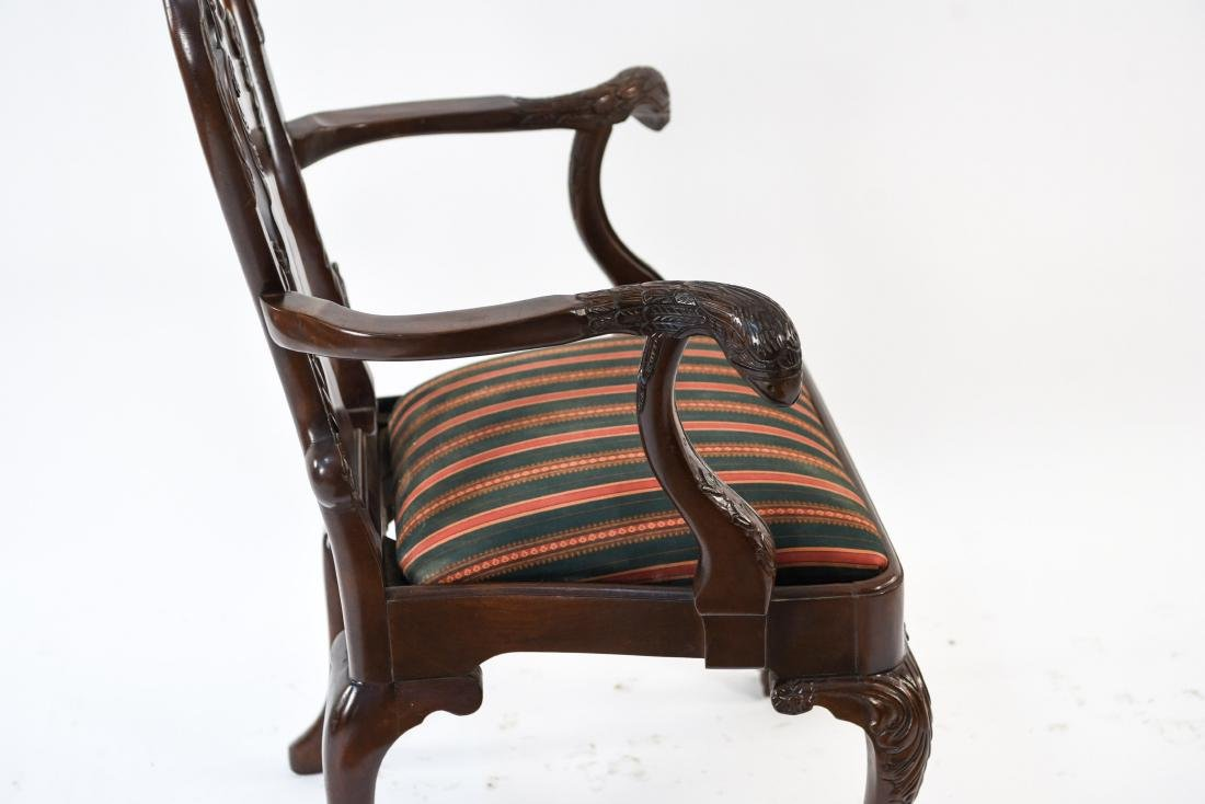 QUEEN ANNE STYLE CARVED ARMCHAIR - 10