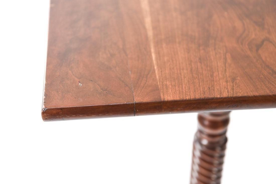 MAHOGANY DROP LEAF DINING TABLE - 10