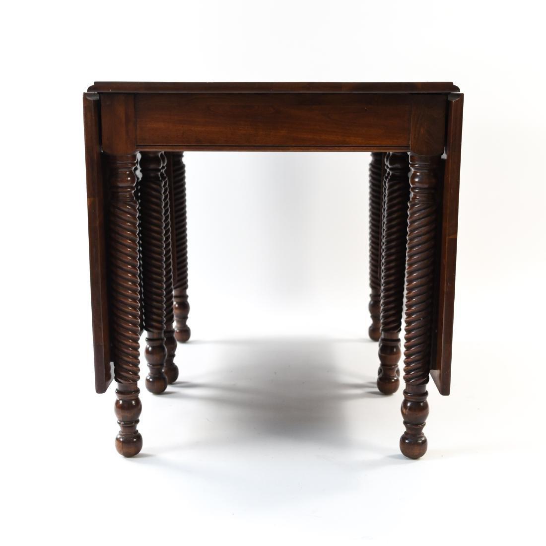 MAHOGANY DROP LEAF DINING TABLE - 4