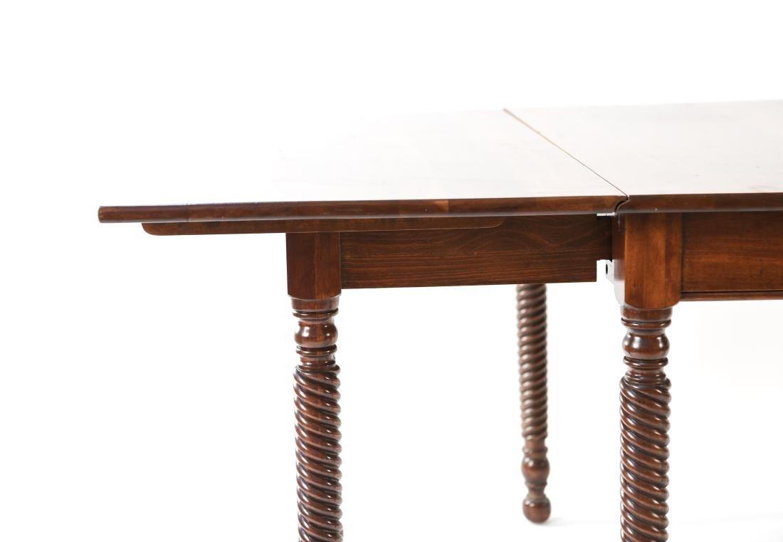 MAHOGANY DROP LEAF DINING TABLE - 9