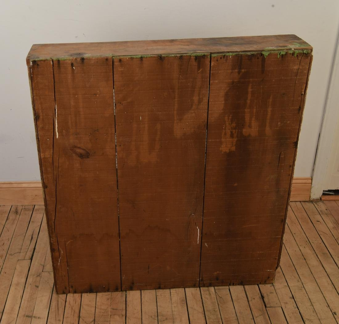 ANTIQUE CUPBOARD CABINET W/ MESH FRONT DOORS - 5