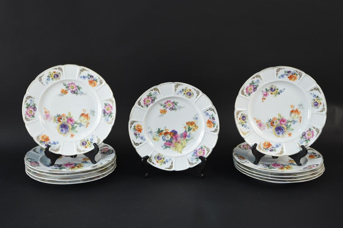 (11) ROSENTHAL FLORAL DECORATED PORCELAIN PLATES