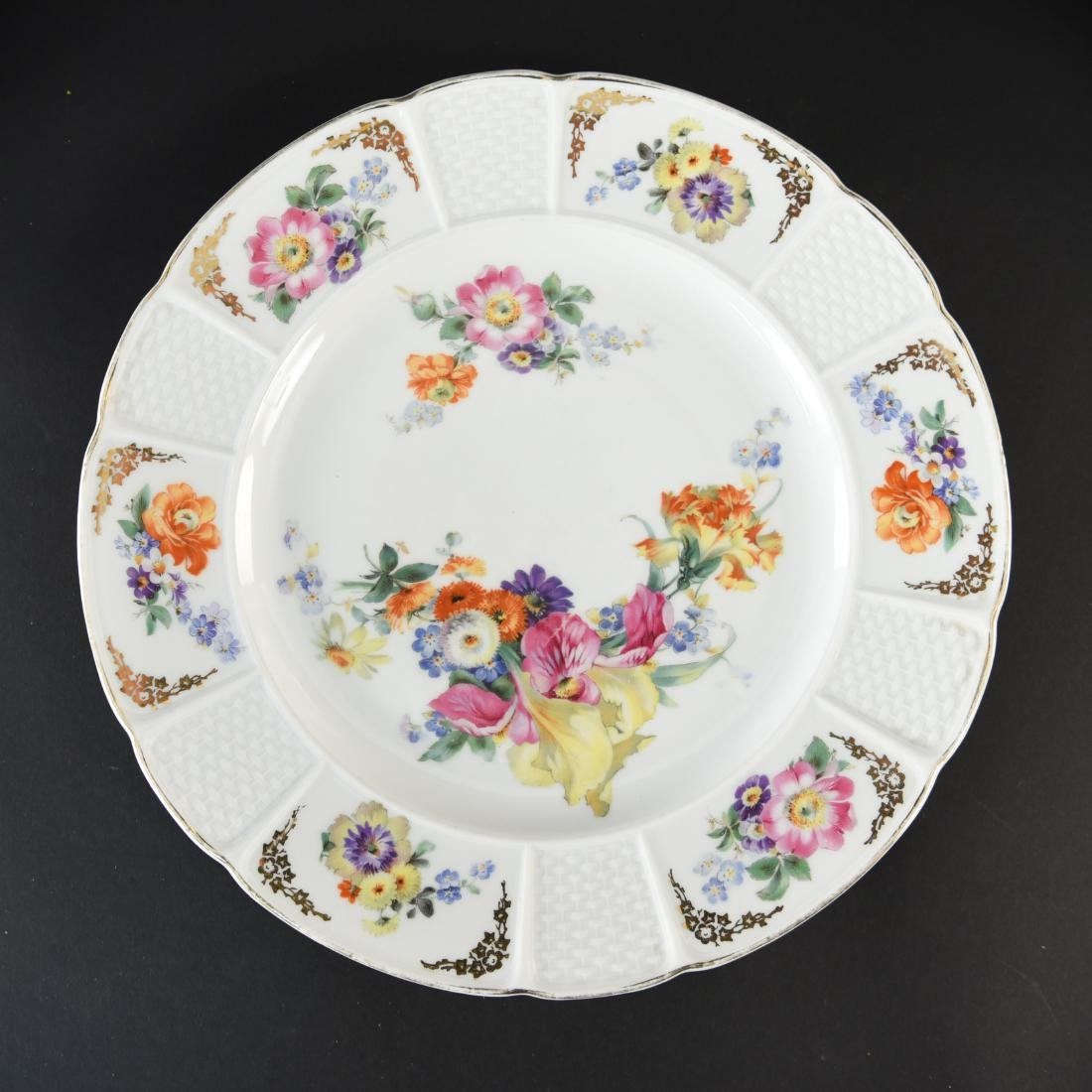 (11) ROSENTHAL FLORAL DECORATED PORCELAIN PLATES - 2