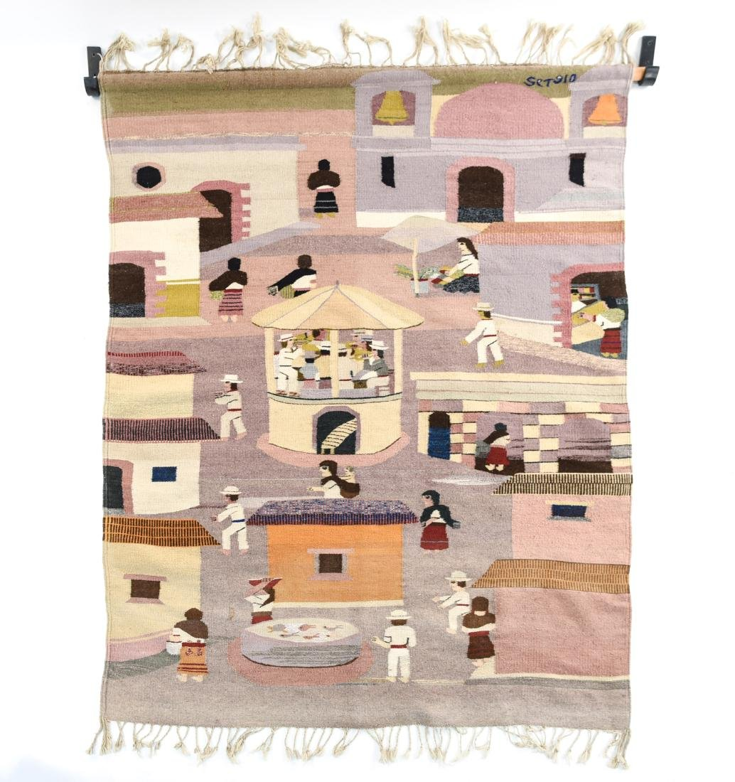 MEXICAN TAPESTRY BLANKET
