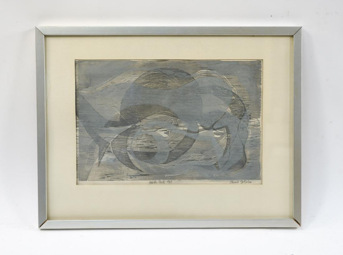 EDWARD DECAZBO GRAY ABSTRACT PRINT