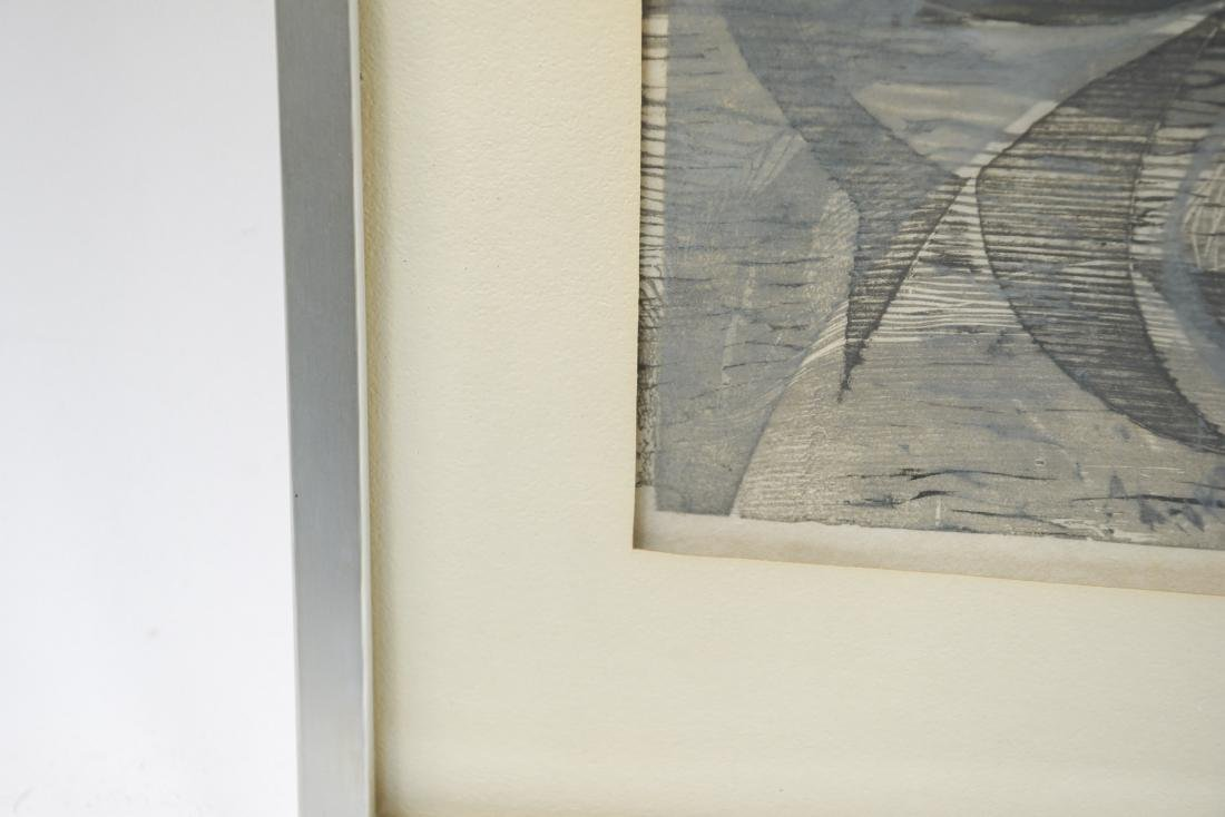 EDWARD DECAZBO GRAY ABSTRACT PRINT - 5