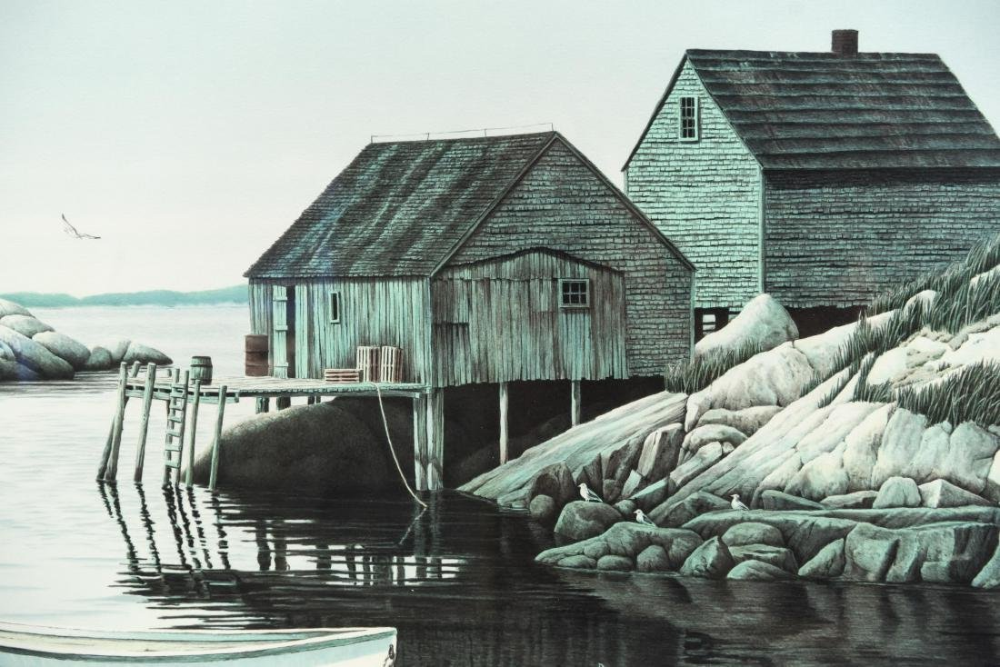 HELEN RUNDELL LITHOGRAPH OF BOAT - 4