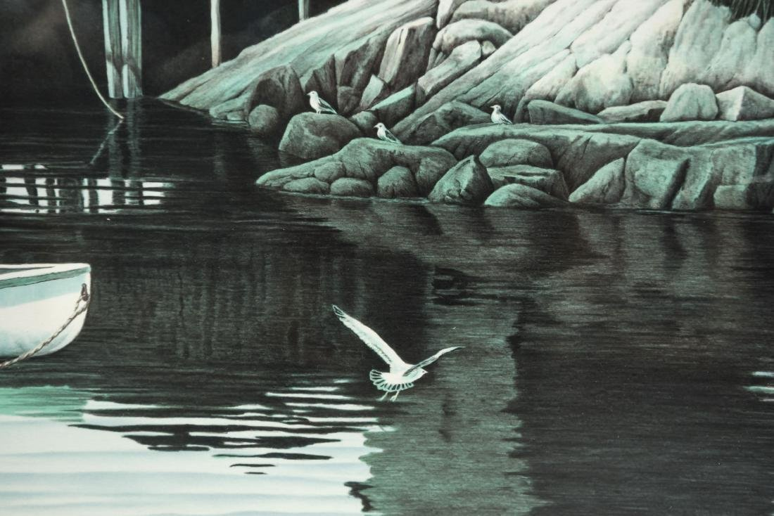HELEN RUNDELL LITHOGRAPH OF BOAT - 5