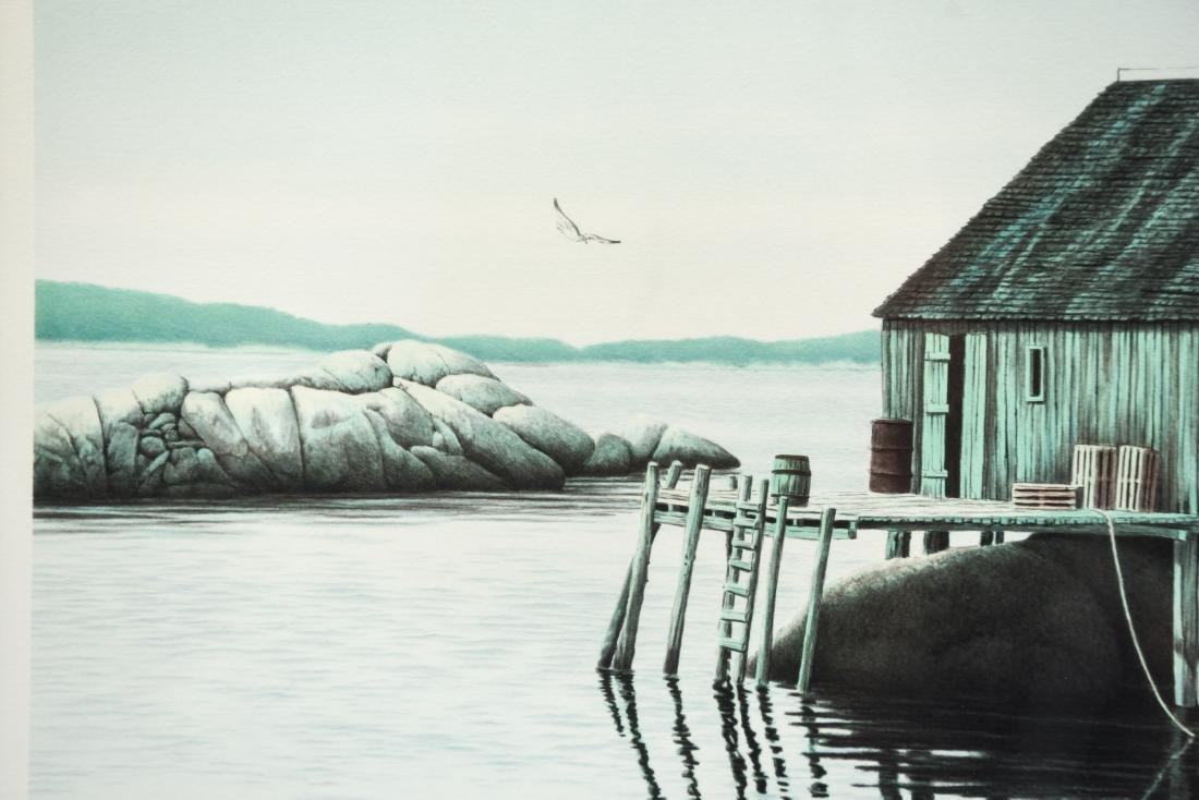 HELEN RUNDELL LITHOGRAPH OF BOAT - 6