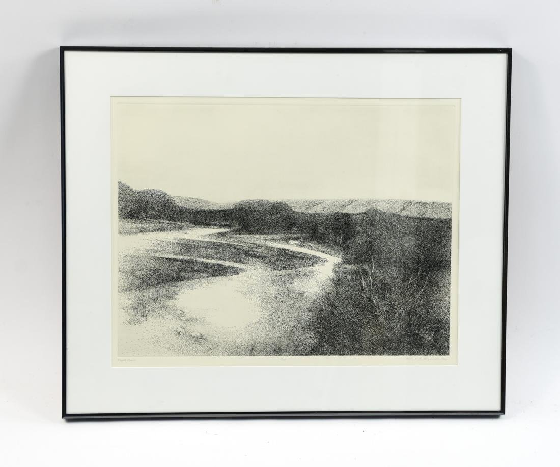 RICHARD CLAUDE ZIEMANN (B. 1932) ETCHING
