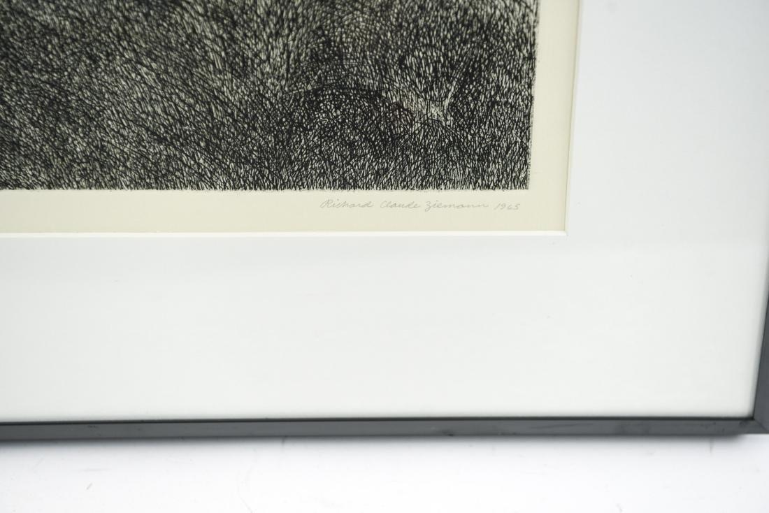 RICHARD CLAUDE ZIEMANN (B. 1932) ETCHING - 2