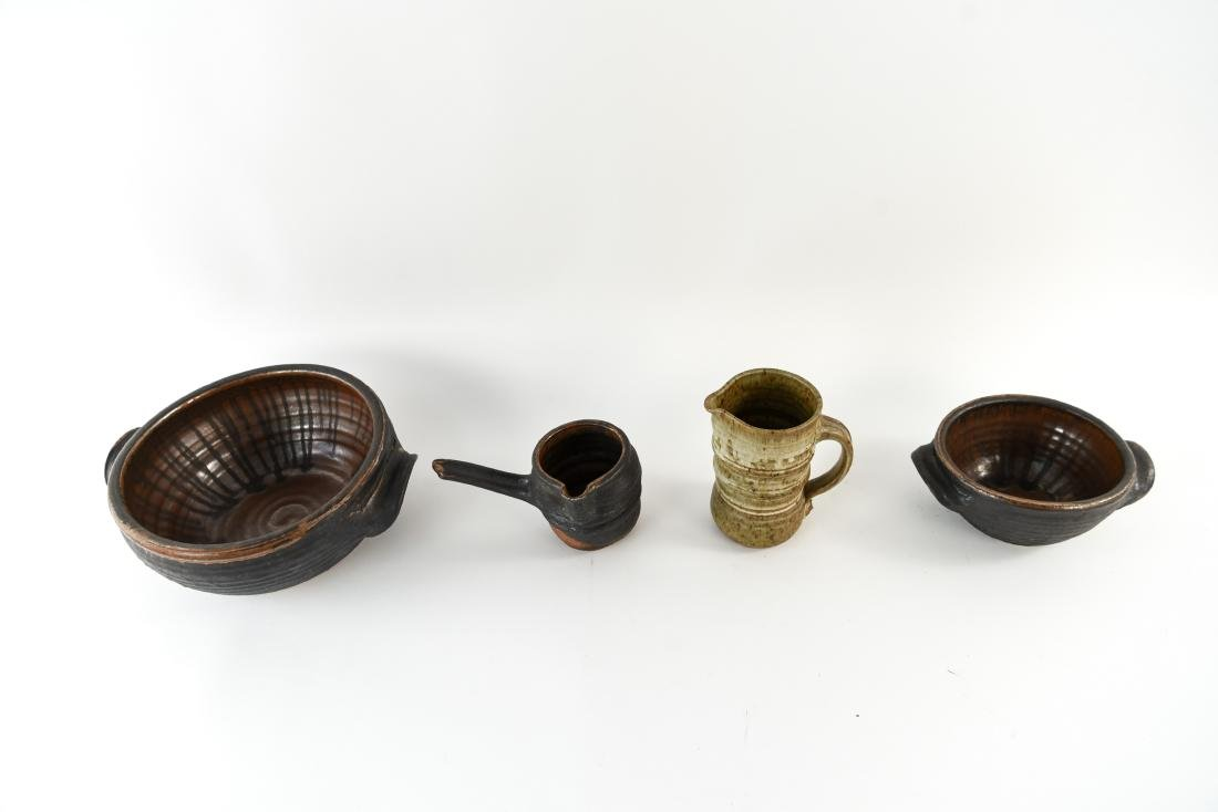 GROUPING OF STUDIO POTTERY - 3