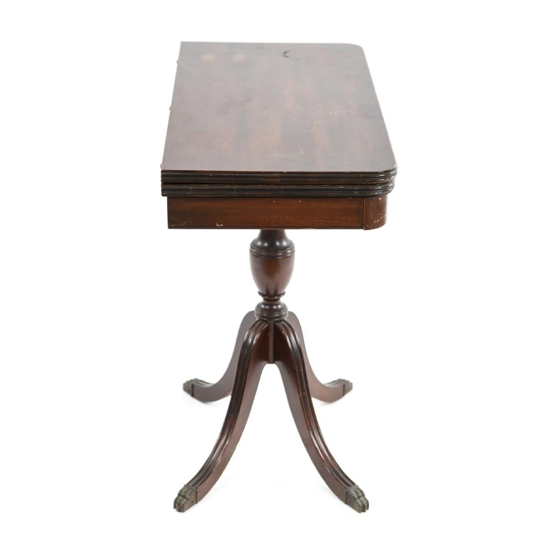 MAHOGANY FLIP TOP CONSOLE TABLE - 10