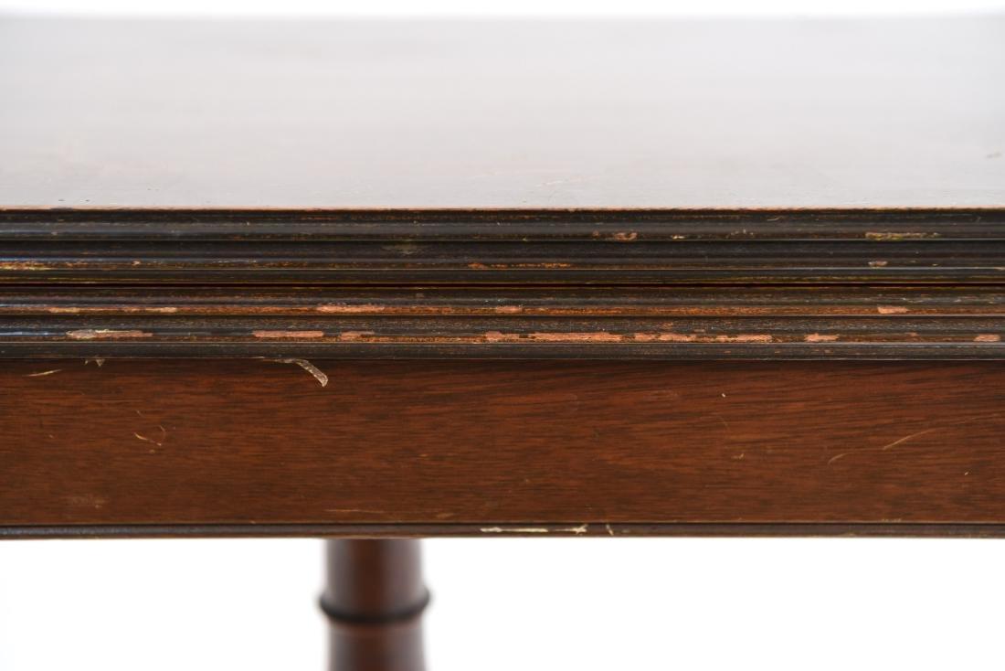 MAHOGANY FLIP TOP CONSOLE TABLE - 5