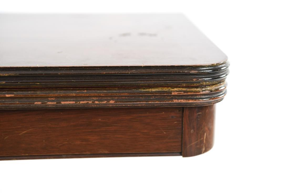 MAHOGANY FLIP TOP CONSOLE TABLE - 6