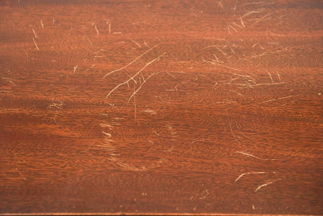 MAHOGANY FLIP TOP CONSOLE TABLE - 7