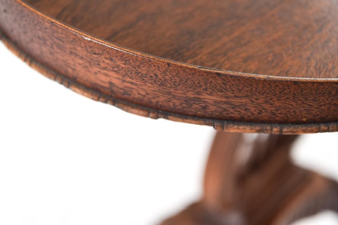 MAHOGANY LYRE BASE TABLE - 3