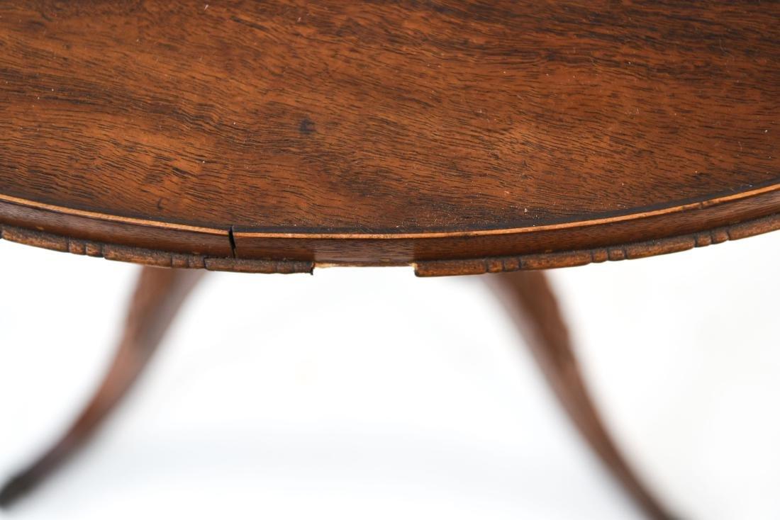 MAHOGANY LYRE BASE TABLE - 9
