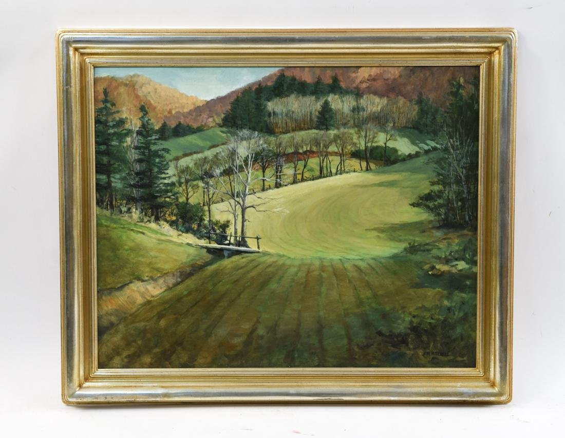 KENNETH M. MITCHELL OIL ON BOARD LANDSCAPE