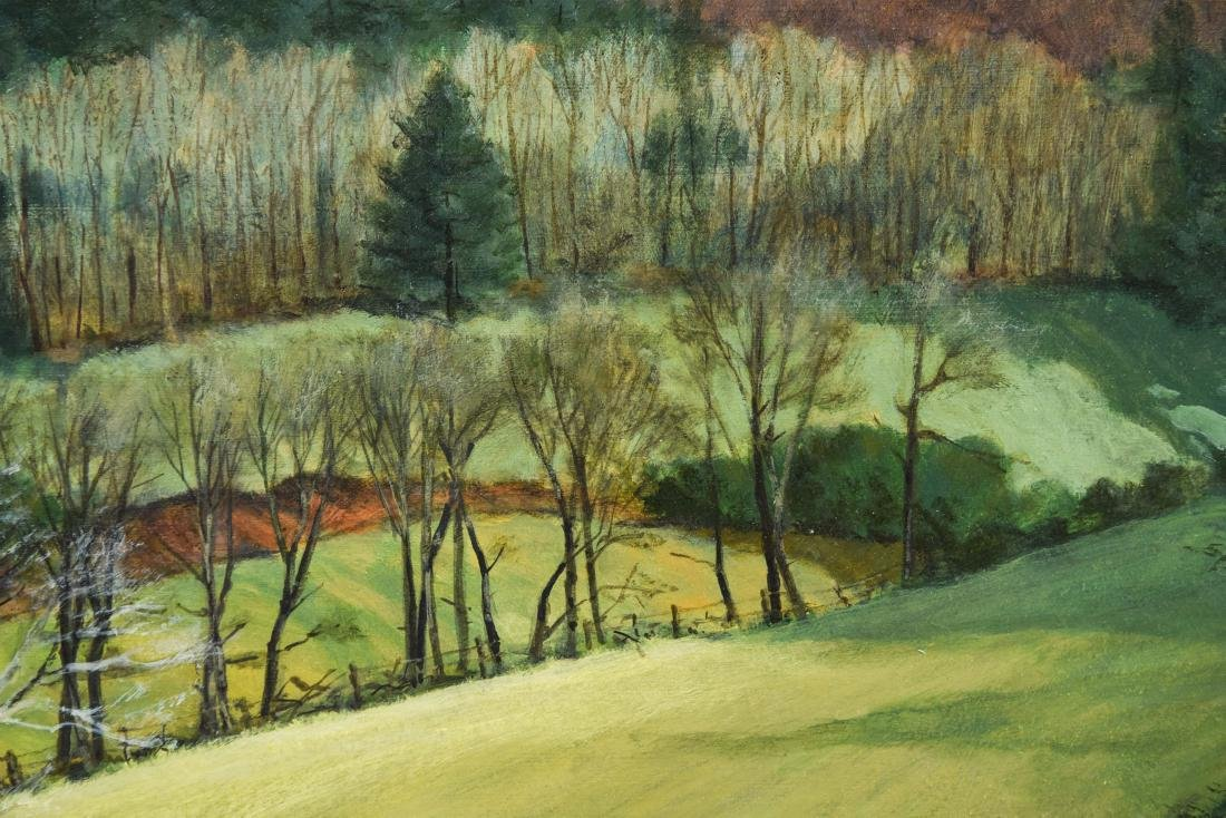 KENNETH M. MITCHELL OIL ON BOARD LANDSCAPE - 6