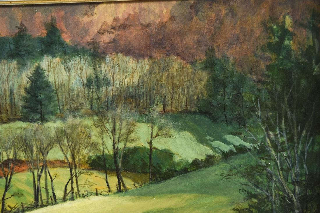 KENNETH M. MITCHELL OIL ON BOARD LANDSCAPE - 7