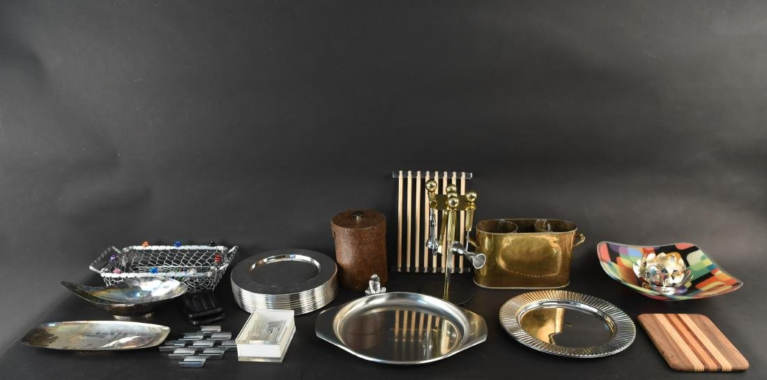 DECORATIVE BARWARE AND SERVING GROUPING - 2