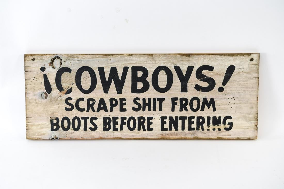 VINTAGE ESTABLISHMENT SIGN