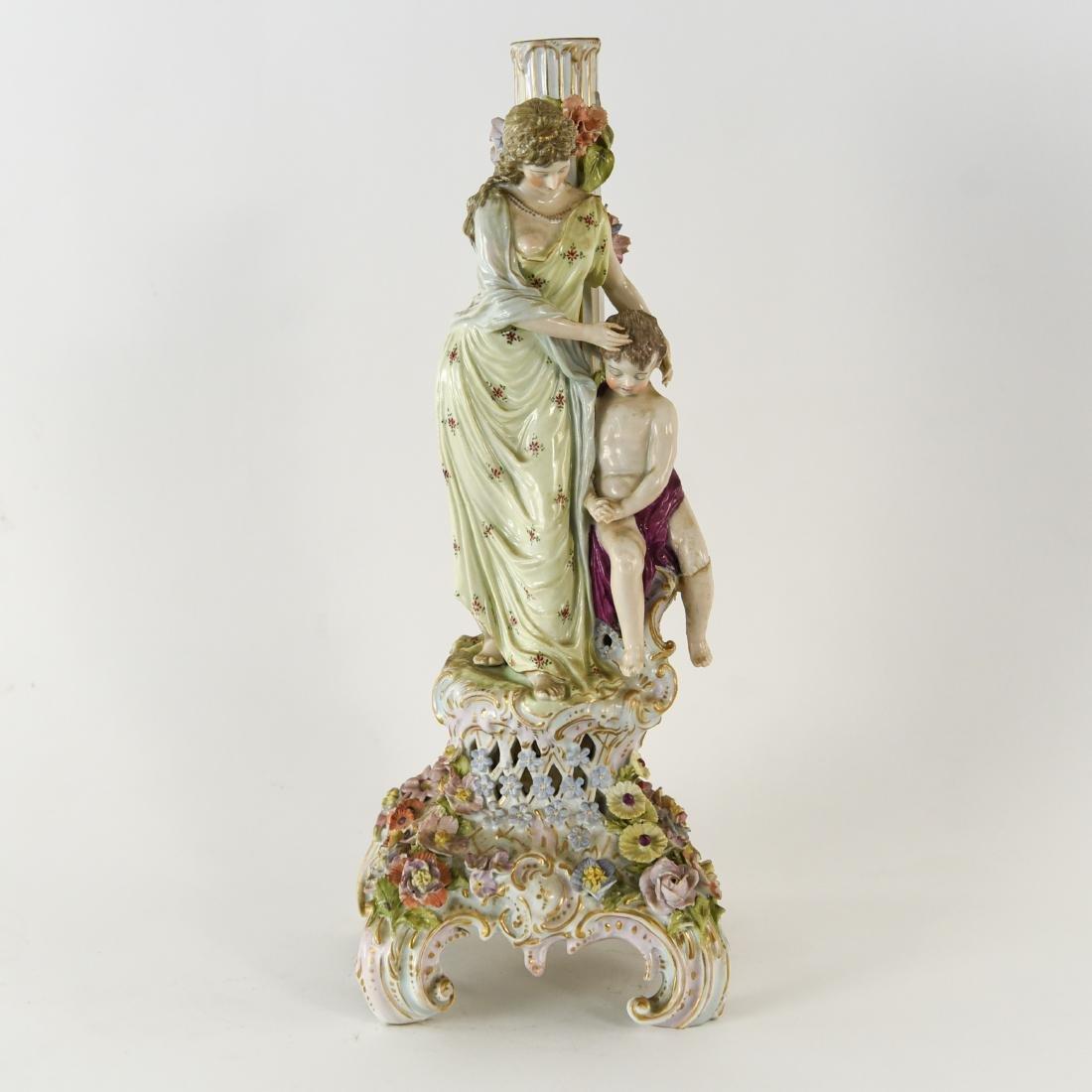 PORCELAIN FIGURAL LAMP BASE