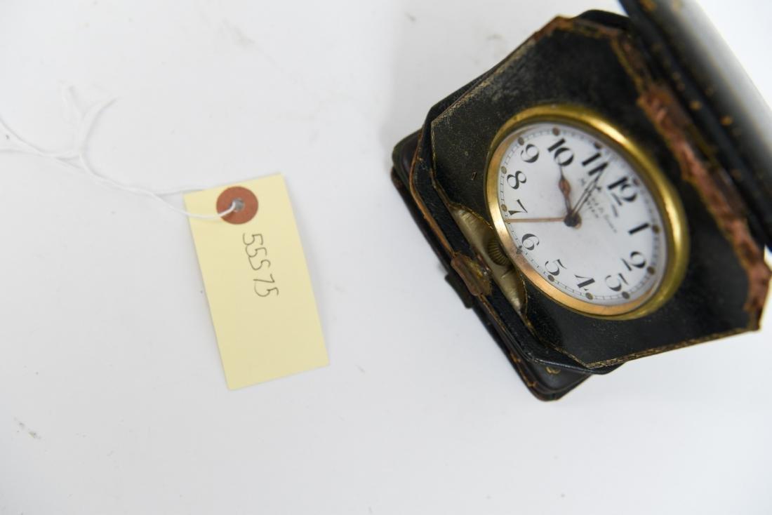 (2) ANTIQUE DESK POCKET WATCH TRAVELING CLOCKS - 7