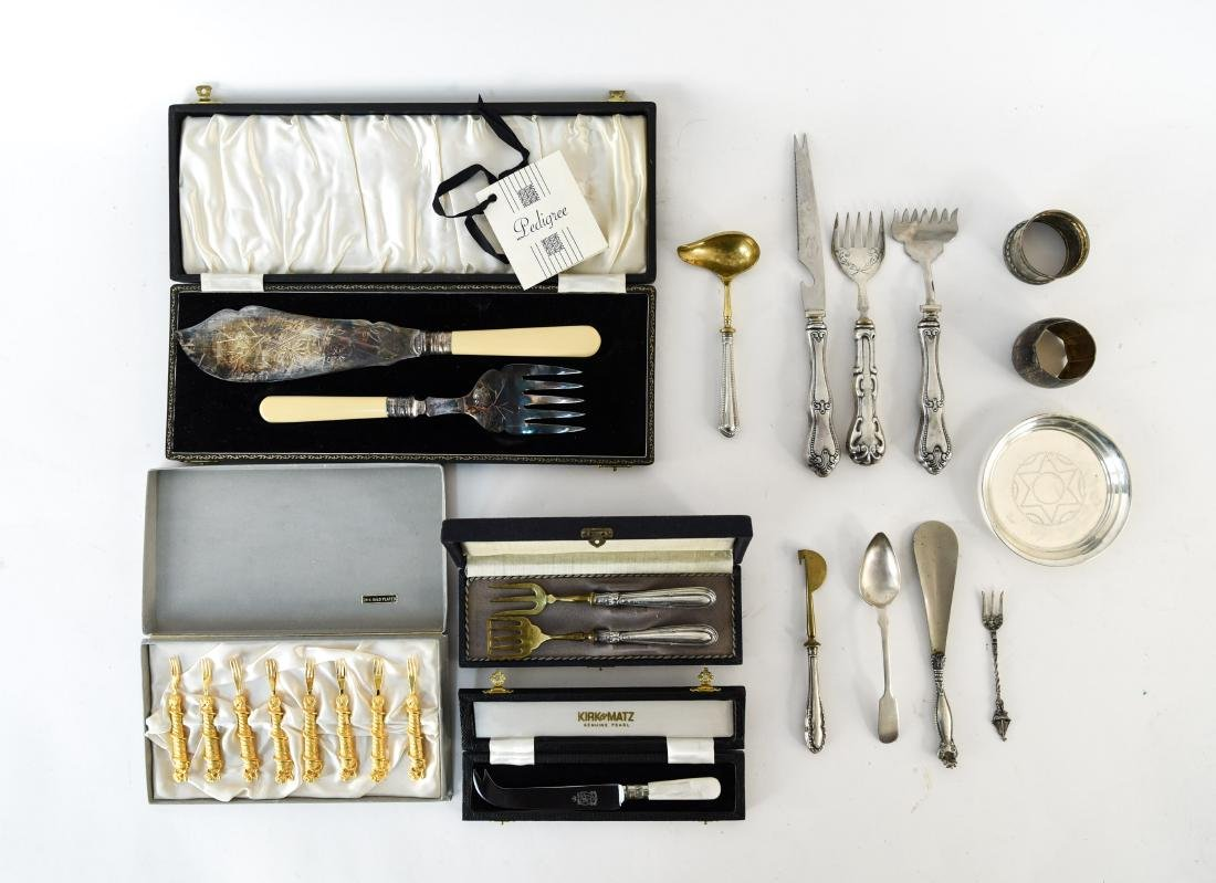 GROUPING OF SILVER SERVING WARE INC. STERLING