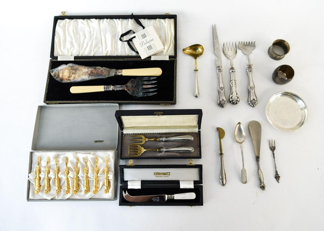 GROUPING OF SILVER SERVING WARE INC. STERLING - 2