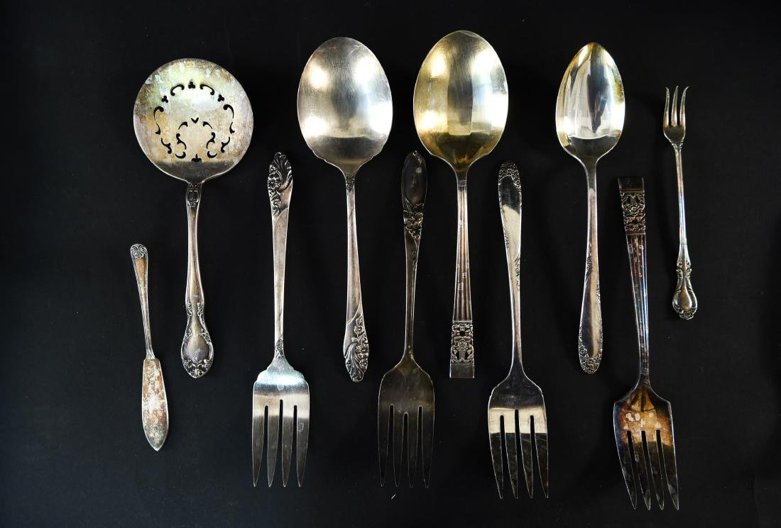 GROUPING OF SILVERPLATE ETC - 10