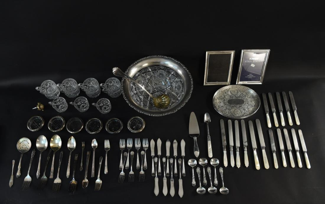 GROUPING OF SILVERPLATE ETC