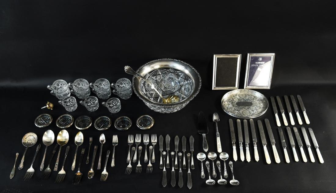 GROUPING OF SILVERPLATE ETC - 2