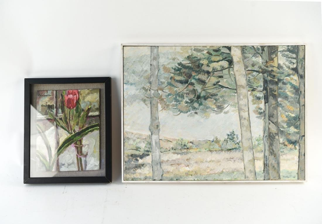 (2) RICHARD LANG CHANDLER PAINTINGS