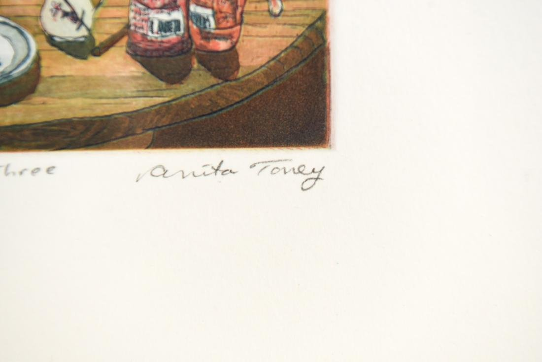 (2) ANITA TONEY ETCHINGS - 7