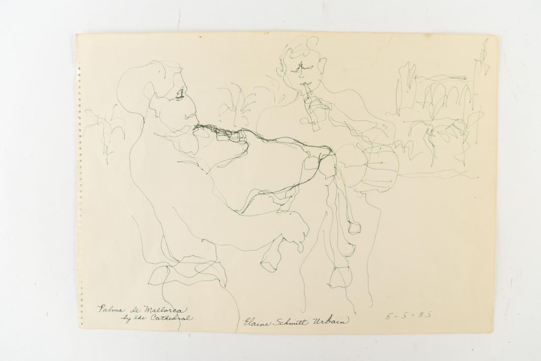 ELAINE SCHMITT URBAIN (1925-2004) DRAWING