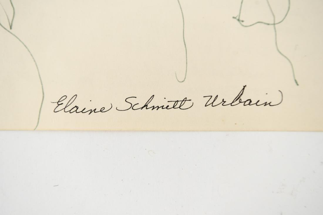 ELAINE SCHMITT URBAIN (1925-2004) DRAWING - 3