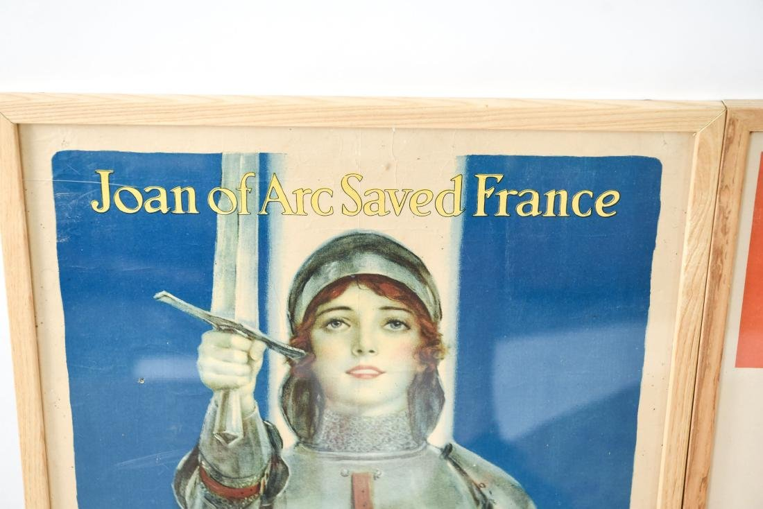 (4) WWI POSTERS LAID DOWN ON BOARD - 10