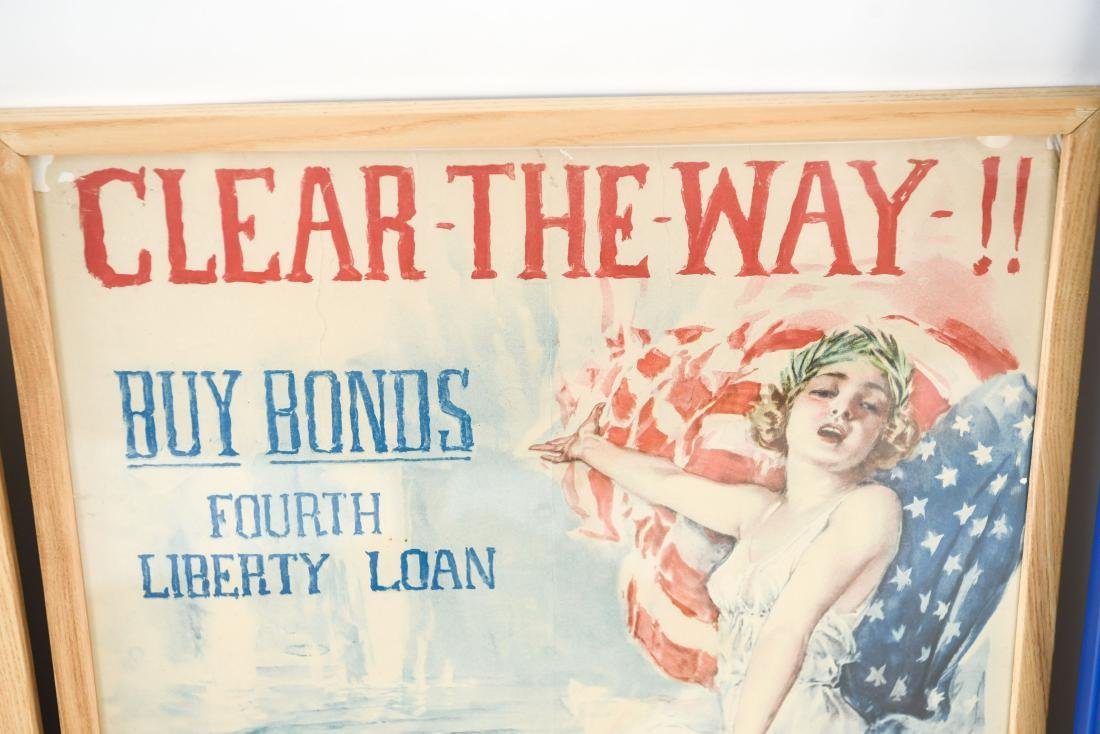 (4) WWI POSTERS LAID DOWN ON BOARD - 5