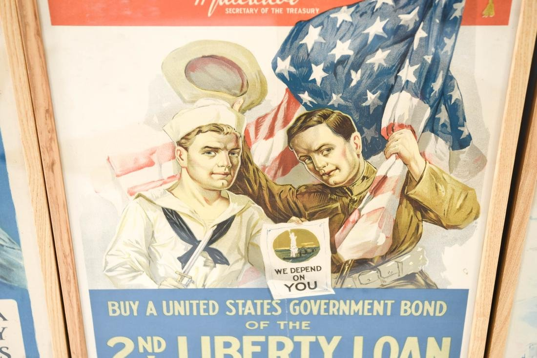 (4) WWI POSTERS LAID DOWN ON BOARD - 8