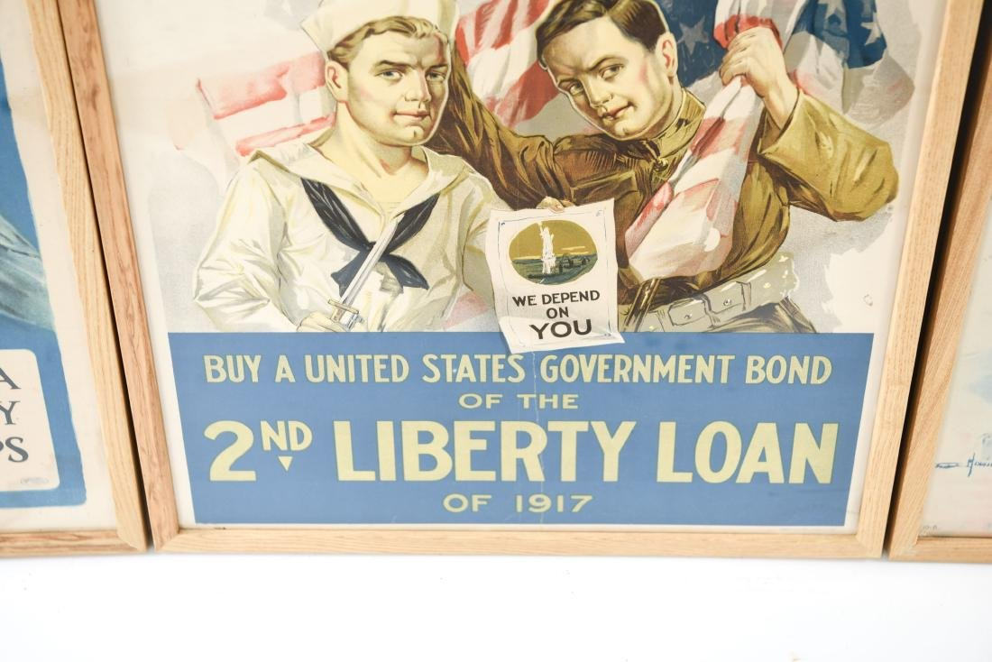 (4) WWI POSTERS LAID DOWN ON BOARD - 9