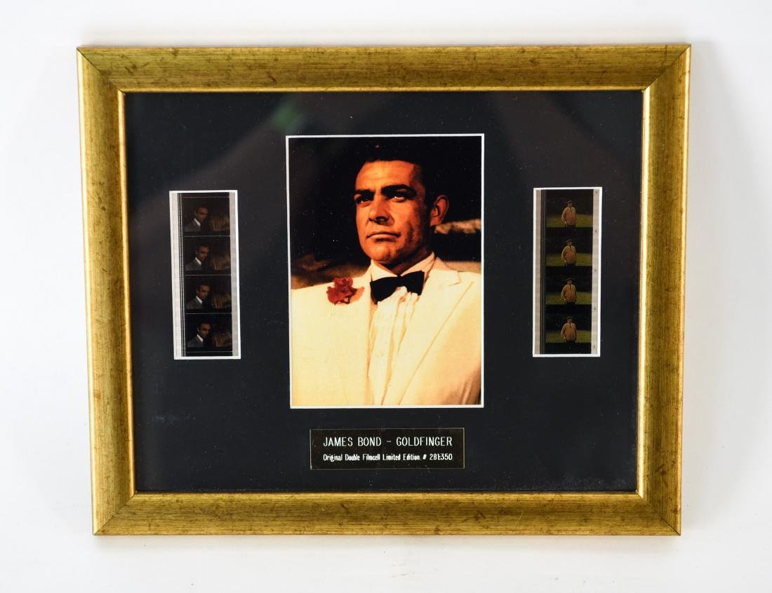 JAMES BOND FRAMED DOUBLE FILM CELL