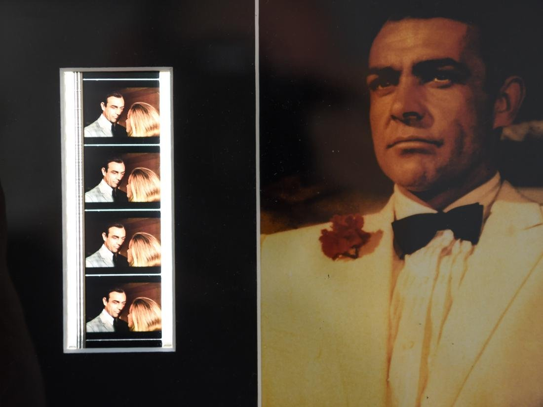 JAMES BOND FRAMED DOUBLE FILM CELL - 4
