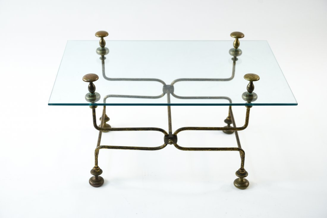 BRASS AND GLASS COFFEE TABLE - 2