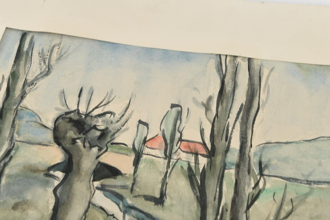 (2) SIGNED WATERCOLOR LANDSCAPES DATED 1939 - 10