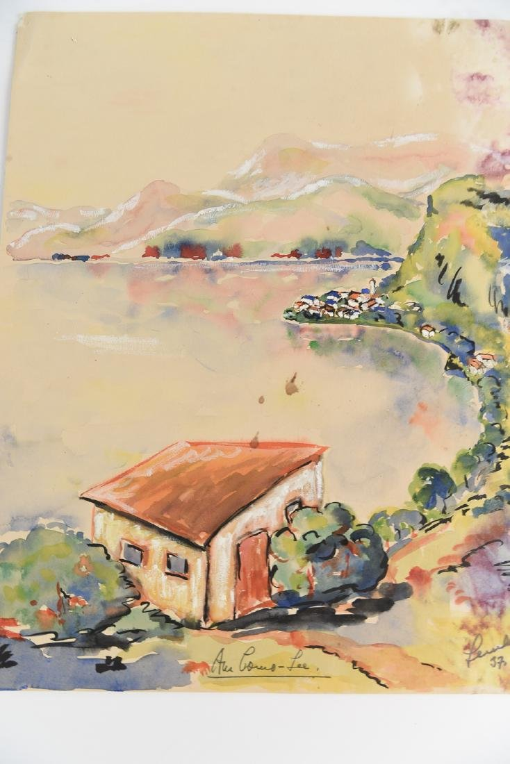 (2) SIGNED WATERCOLOR LANDSCAPES DATED 1939 - 3