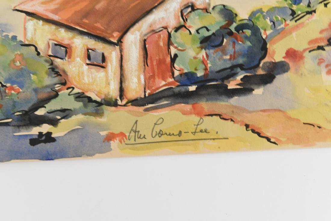 (2) SIGNED WATERCOLOR LANDSCAPES DATED 1939 - 4