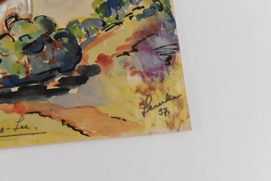 (2) SIGNED WATERCOLOR LANDSCAPES DATED 1939 - 5